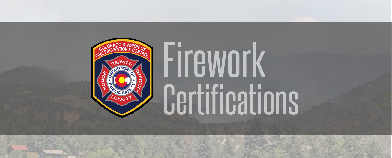 Firework Certifications | Fire Prevention and Control